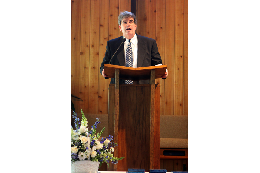 David V. Mahler, Head of School, speaks to the class of 2017 Friday, June 3 during ODA's 6th grade graduation at Siesta Key Chapel. Mahler told the class that 17 happens to be his favorite number so he would be keeping a close eye on their class.