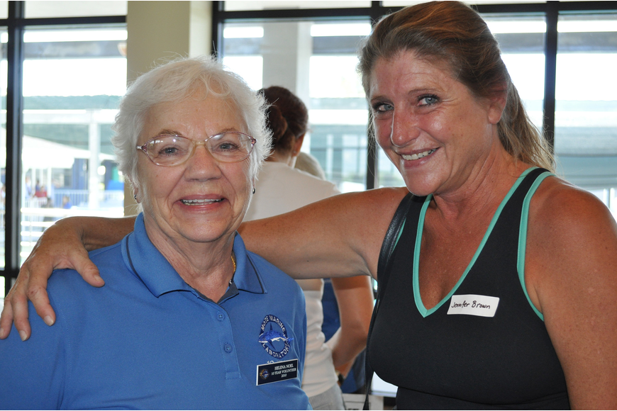 Helena Noel is a volunteer in the gift shop and Jennifer Brown hopes to be a bay explorer volunteer.