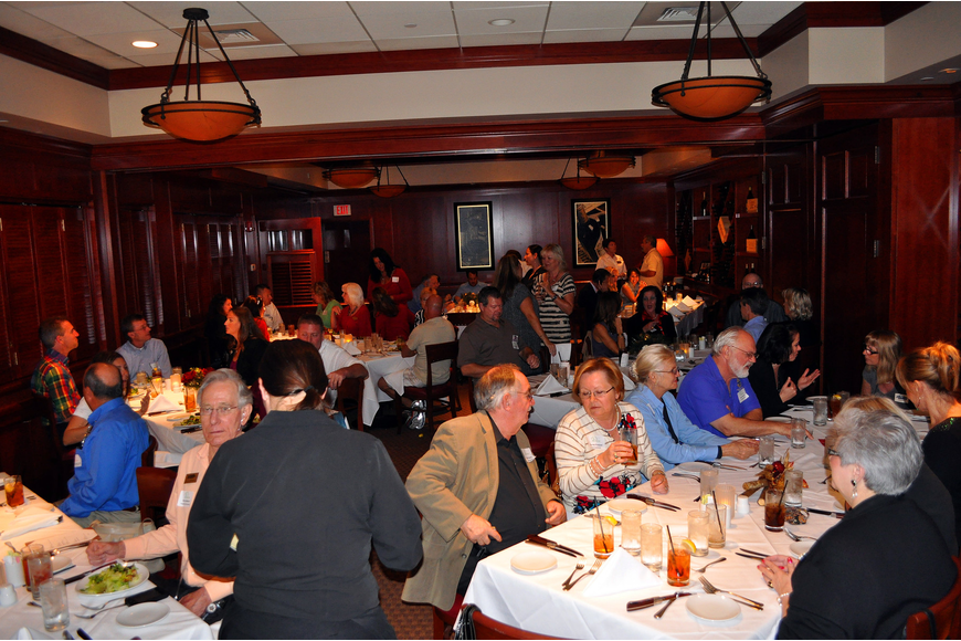 A larger crowd came out for the Siesta Key Chamber holiday luncheon at Fleming's.