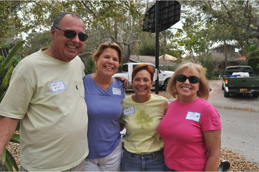 Larry Keefe, Alice Quarles, Pam Asmussen and Linda Keefe