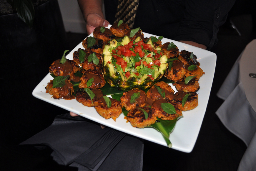 One of the many appetizers served prior to the interactive portion of the evening.