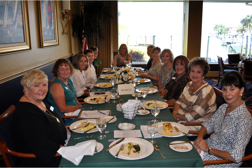 The models enjoyed lunch together prior to walking in clothes from Chico's and Soma Thursday, Sept. 27 at Bird Key Yacht Club's Style Show.