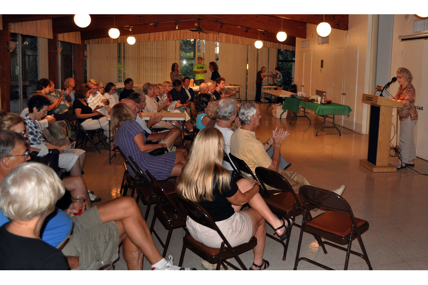 More than 50 people attended the Manatee-Sarasota Sierra Group's general meeting Thursday, Oct. 11, at the Sarasota Garden Club.