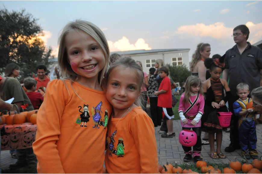 Sisters Savannah and Audrey Tucker participated in the Halloween activities.