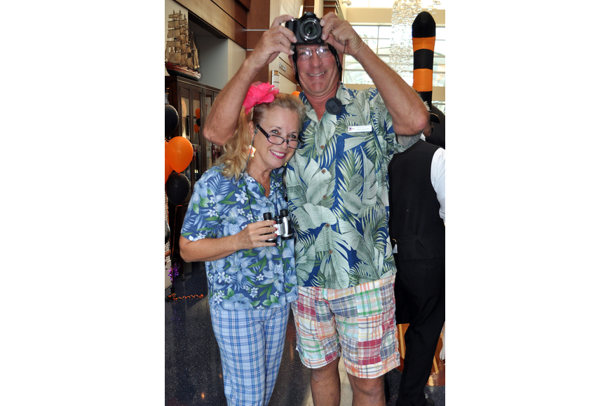 Nancy Cox and Don Payzant had fun being tacky tourists.