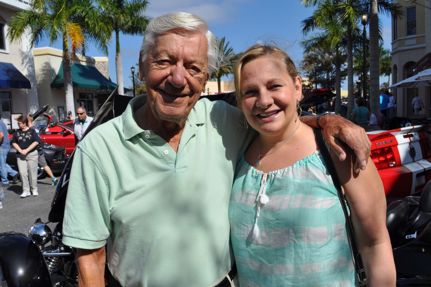 Tara resident Peter Markellos, came out with his daughter, Pam Markellos, of Lakewood Ranch.