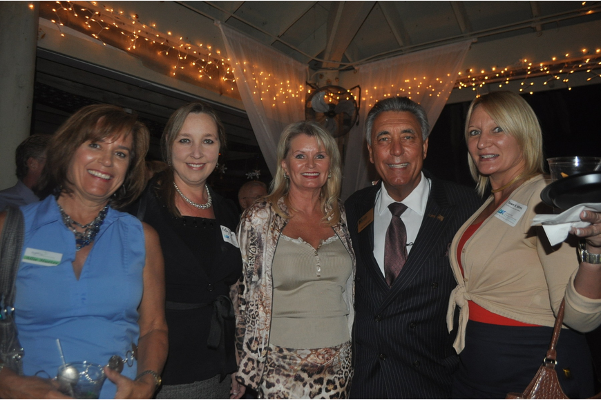 Allie Hueter of Building Connections, Kelly Dixon of Longboat Limousine, Ramona Glanz and Andrew Vac of National Awards of Florida Inc., Dawn Mims, executive vice president of the Longboat Key Chamber of Commerce