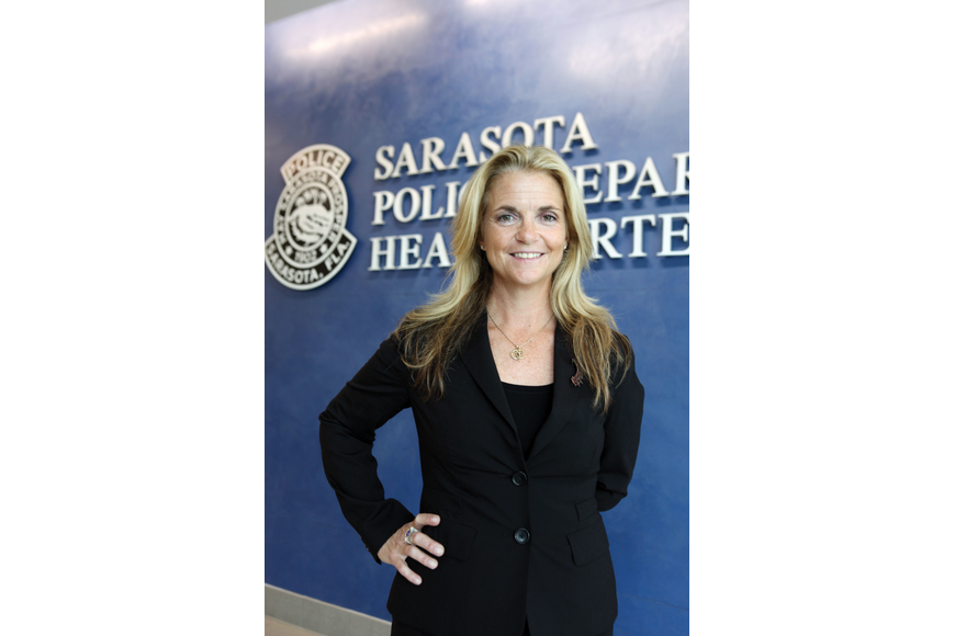 Bernadette DiPino, Sarasota's first woman to lead the police department, will manage a police force of 174 sworn officers.