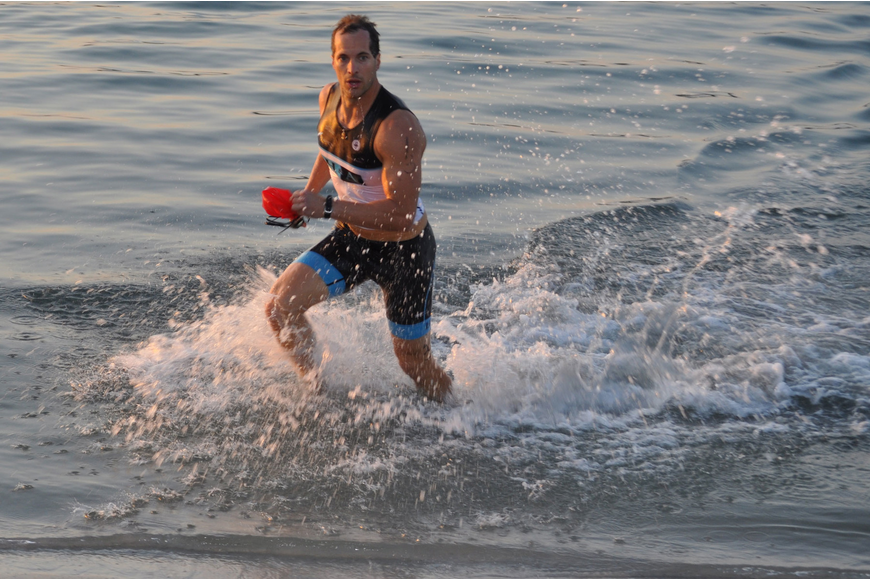 Damien Blumetti raced to the second portion of the Longboat Key Spring Triathlon and Duathlon at the Longboat Key Club and Resort.
