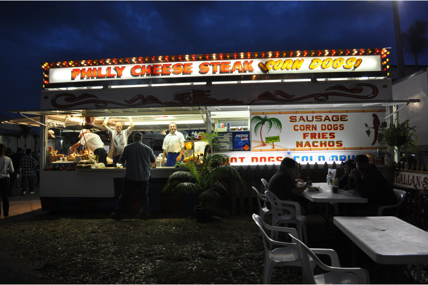 Fair-goers could enjoy a smorgasbord of food, including sausages, funnel cakes, pizza and more.