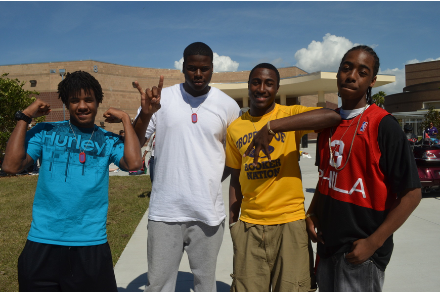 Students Rashad Jones, Eric Mayes, Michael Jones and Byron Hudson