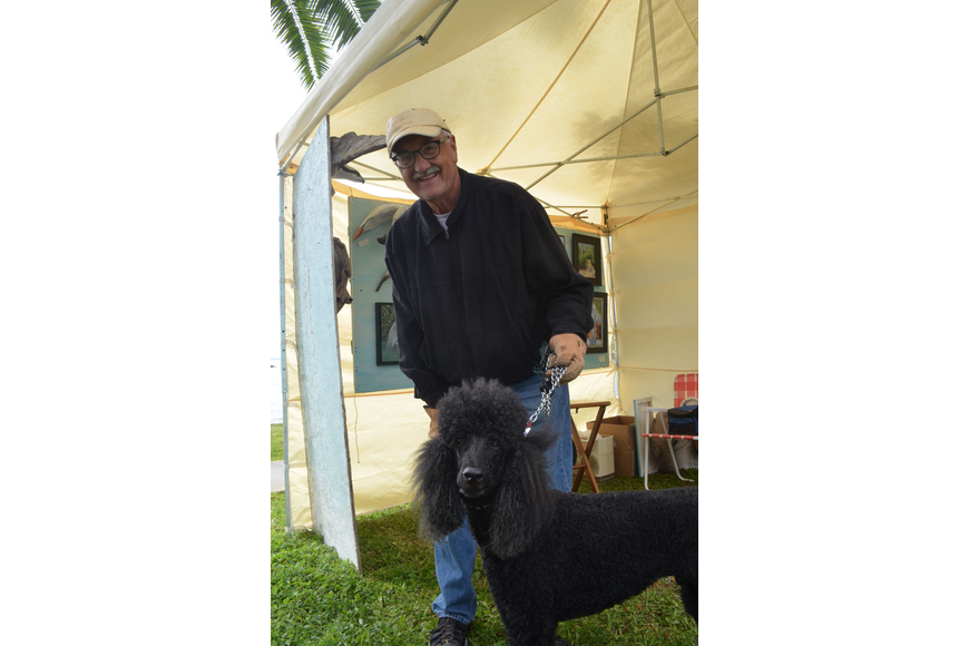 RC Johnson brought his standard poodle Jacques.