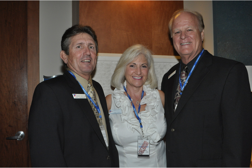 Sarasota Yacht Club Charitable Foundation board members Mike McAdaragh, Diane Stabile and Frank Wright