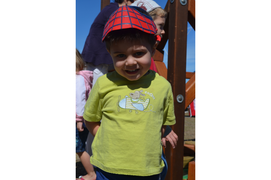 Landon Ray, 2, came to Children's Day at Philippi Estate Park.