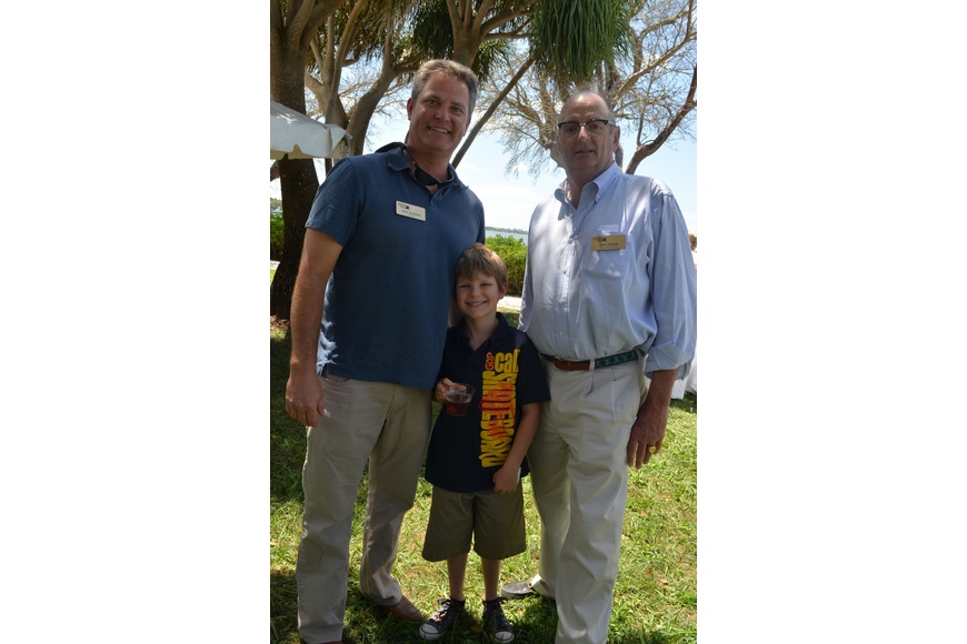 Board Member Paul Hudson with his son Broc and Executive Director John Mason