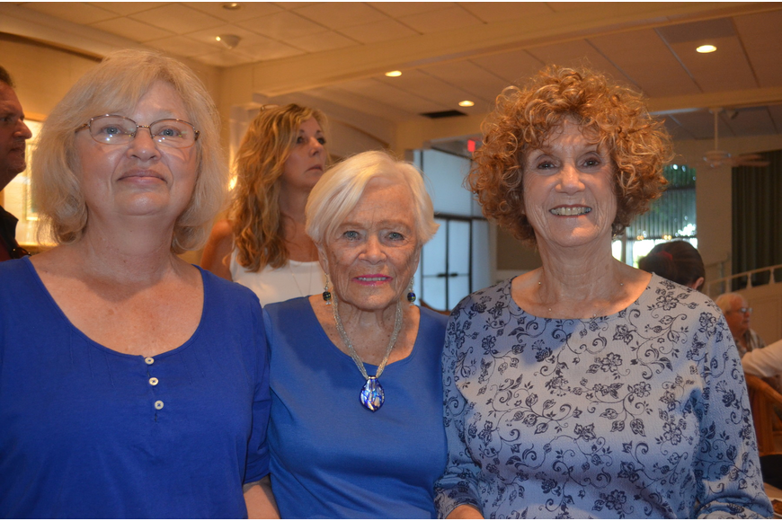 Gail Vitale, Madeline Raftery and Sheila Weisa