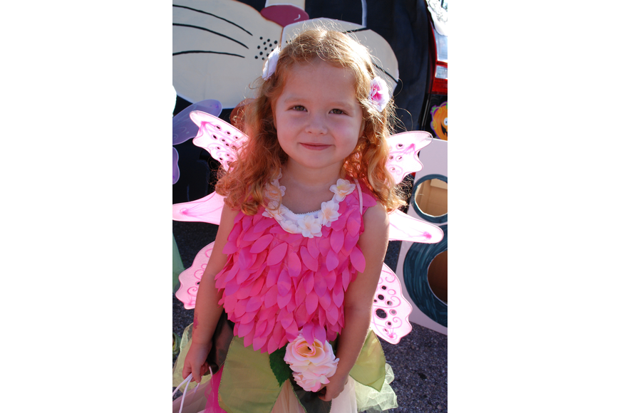 Sarah Sandwall, 3, enjoyed the event.