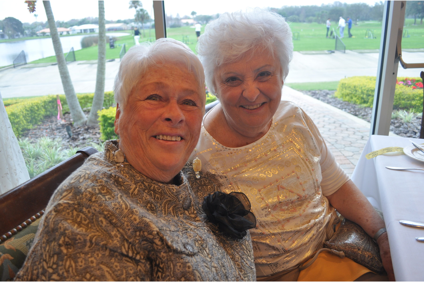 Pat Smith with her sister, Charlene Christy, who is visited from Rhode Island