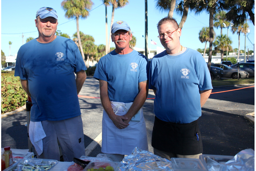 Randy Thompson, David James and Louis Carrasquillo of St. Armands' New Pass Grill.