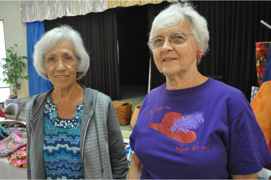 Lorene Chupp and Carol Lindhorst, the Horseshoe Cove activity director