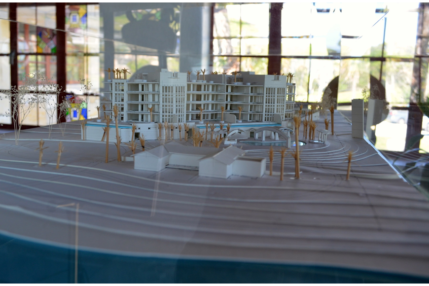 The model of Aria was on display during the event.