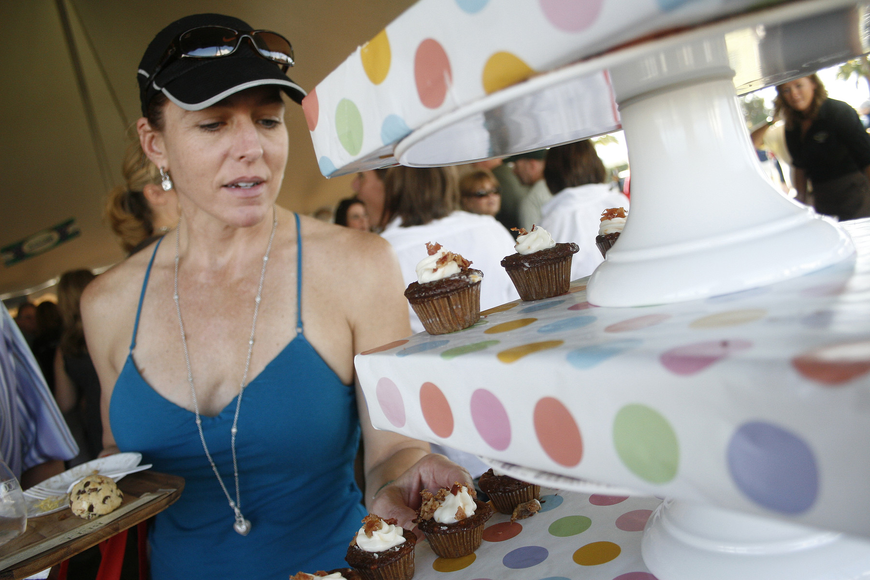 Jenn Curtsinger was intrigued by the beer cupcakes.