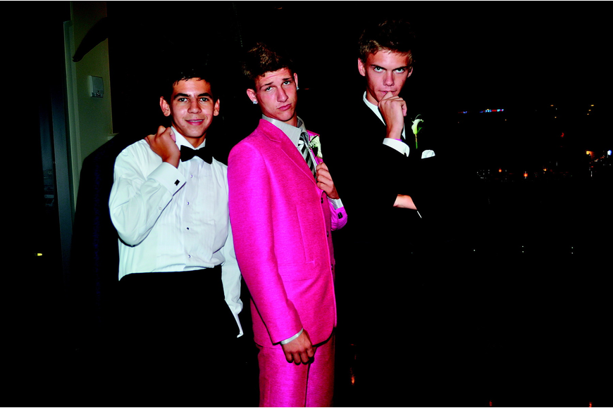 Clay Major, Mason McGowan and Andrew Guinart showed off their suits in May at Sarasota Military Academy's prom.