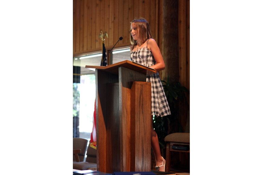 Chloe Ruppert was the student speaker and gave a speech called