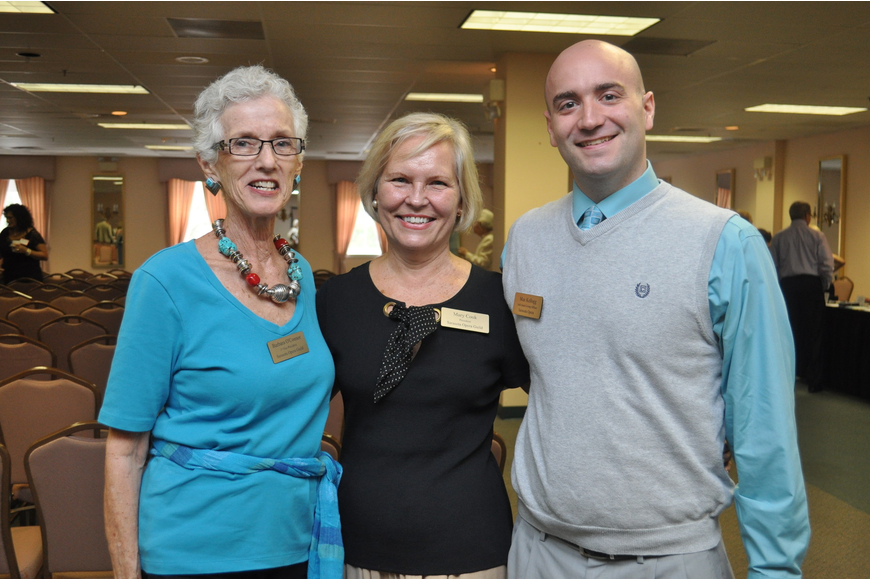 Vice President  Barbara O'Connor, President Mary Cook and Individual Giving Officer of the Sarasota Opera Max Kellogg