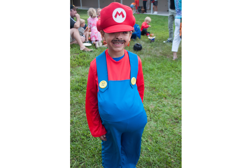 First grader Miguel Rodriguez dressed as Super Mario for the event.