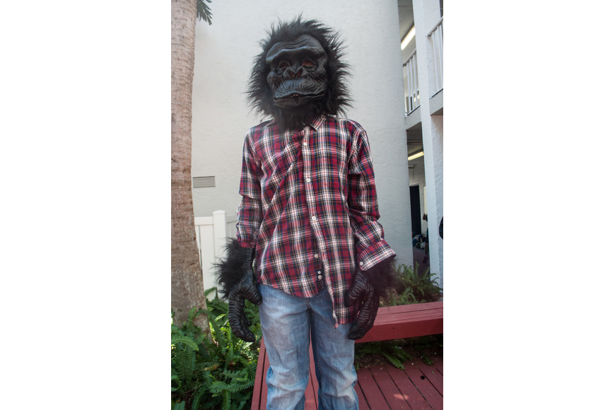Chase Bannar wore a gorilla costume.