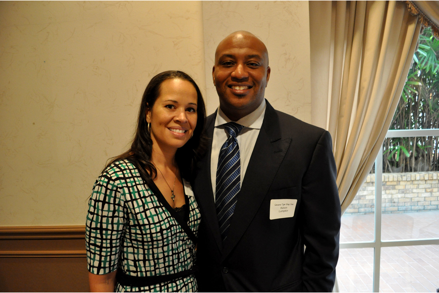 City commission candidate Kelvin Lumpkin with his wife, Dali
