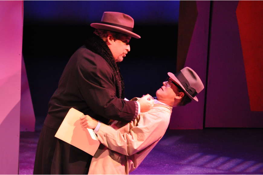 Timothy J. Fitzgerald as J.B. Biggley and William Murphy as Bud Frump