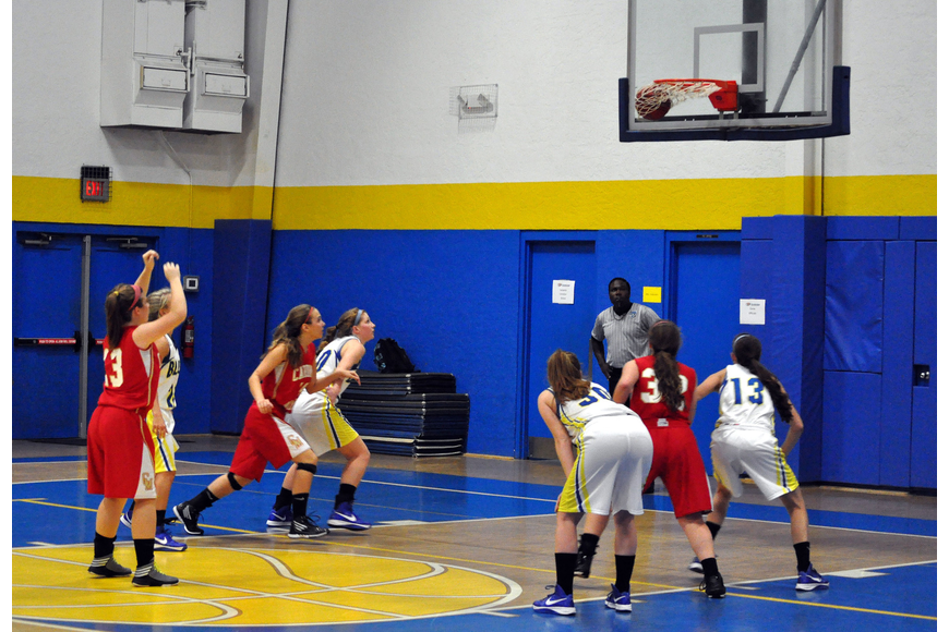 Cardinal Mooney's Quinn Incardona, No. 13, shoots and scores during her free throw.