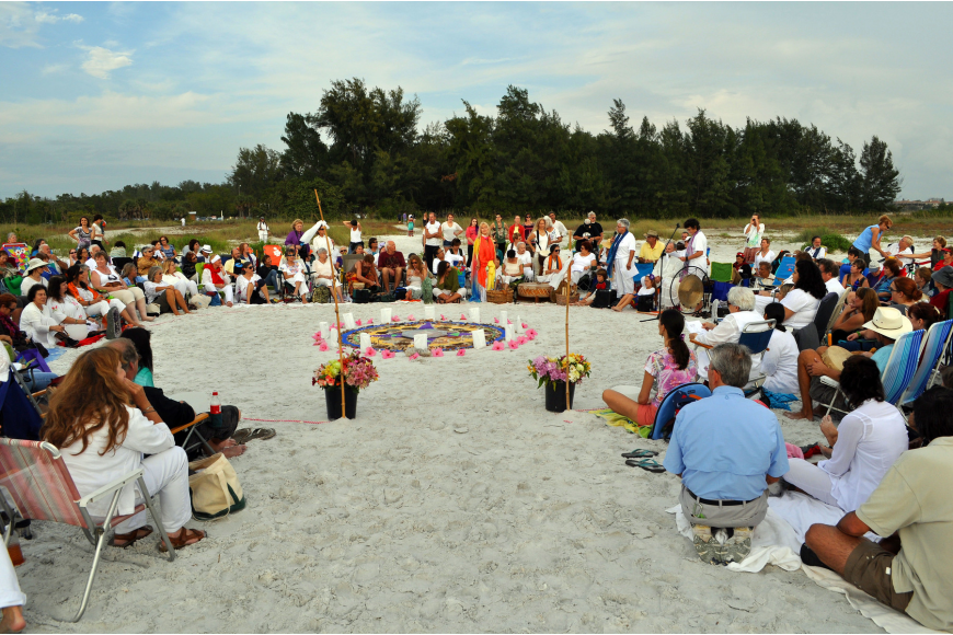 Hundreds of people gathered Wednesday, Dec. 12, on South Lido beach for the 12.12.12 Sands of the World Mandala ceremony.