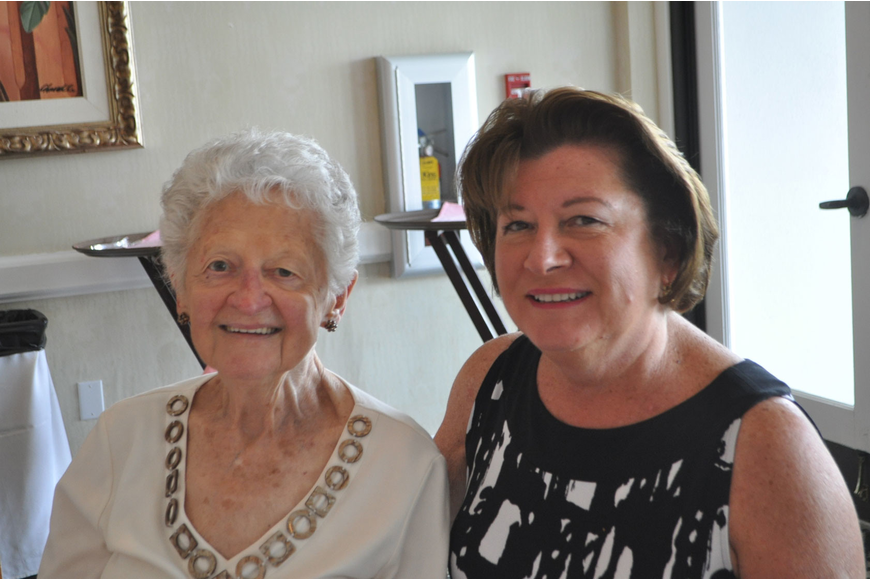 Donna Boscia and her daughter, Celia Lawar, posed May 13 during Mother's Day brunch at the Longboat Key Club and Resort's Harbourside Dining Room.