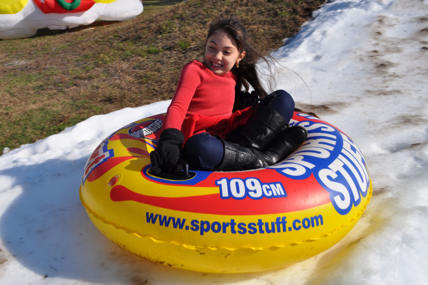 Nicole Hirt, 9, participated in the Winter Wonderland event for the first time.