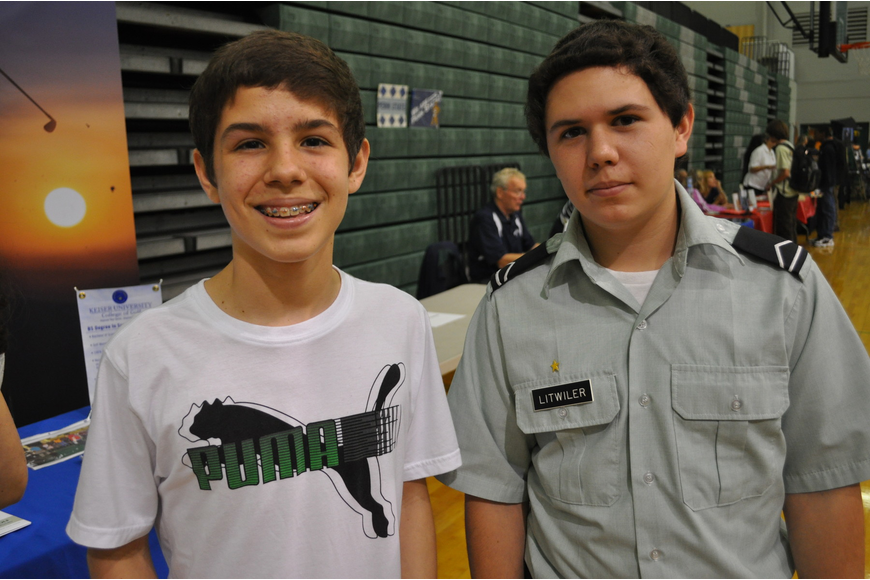 Brandon Neer and Sean Litwiler, who wants to join the U.S. Army