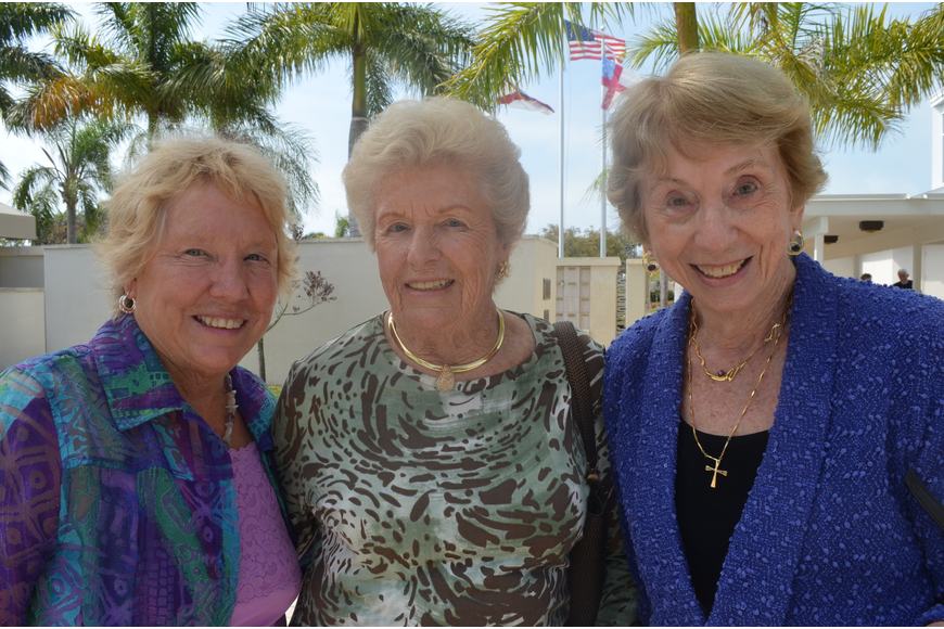 Yvonne Adams, Bunny Raabe and Peg Wickham