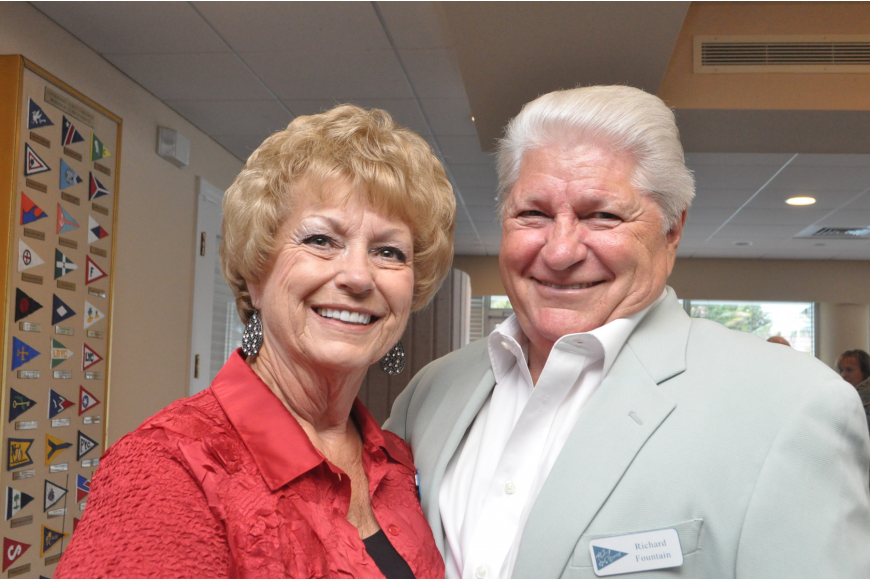 Bird Key Yacht Club bowlers, Elaine Coulter and Richard Fountain
