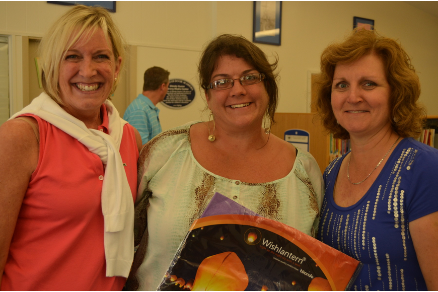 Assistant to the Athletic Director Mary Beth Speaker, Lisa Peirce and Resistor Mary Ann Muller