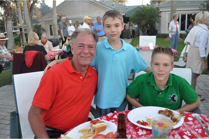Jim Gawlik and his children, Matthew, 9, and Michael, 13, came from Michigan to visit family.