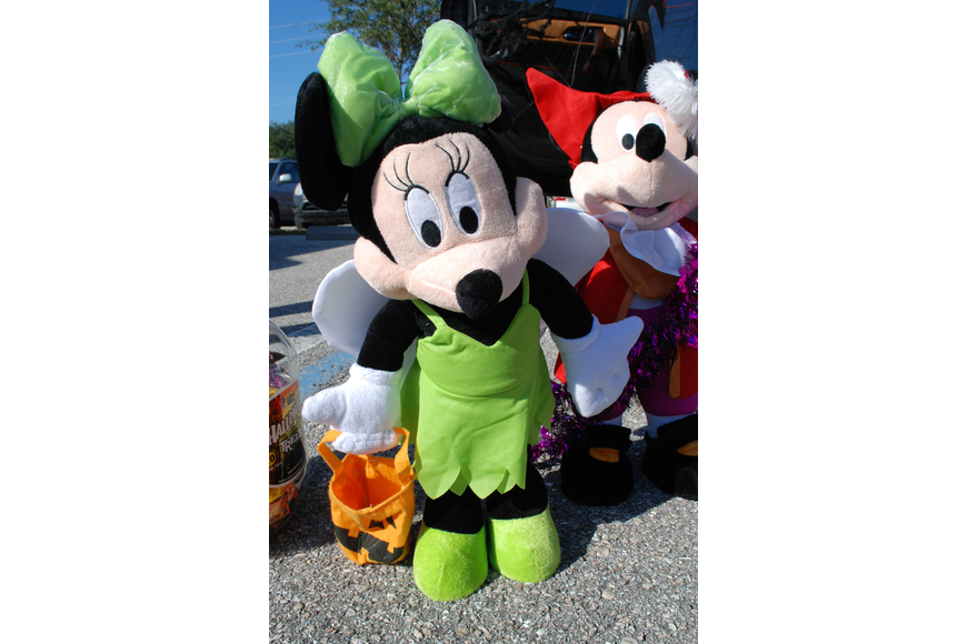 Parents tailgating in Lakewood Ranch Baptist's Trunk or Treat competed for the best decor. Mickey Mouse was among the morning's themes.