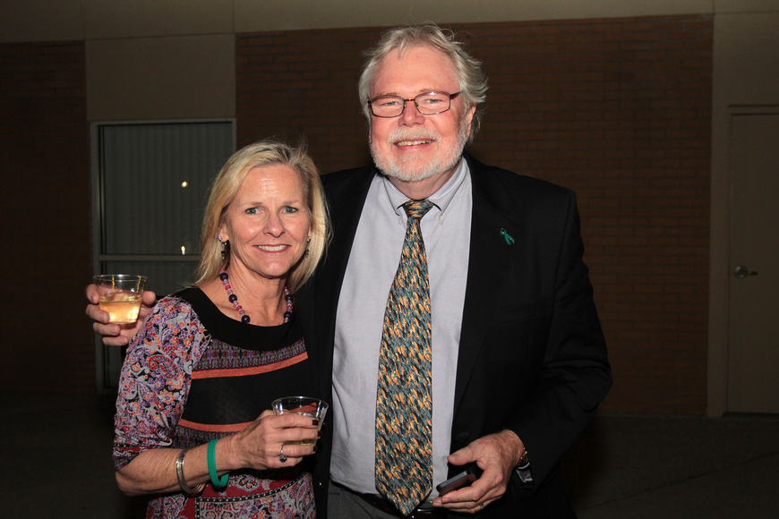 Katie Hayes and Rick Fawley, president Fawley Bryant Architects Inc., at the SCF Foundation Inc.'s Evening Under the Stars Inauguration Concert.