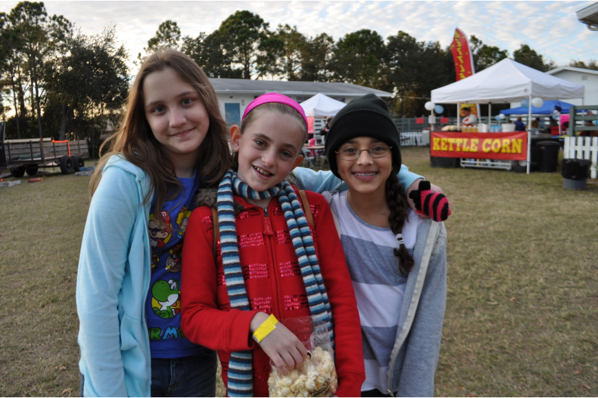Tara students Nat Towell and Lizzy Dawson brought along their friend and neighbor, Rachael Tullio, of Braden River Middle School.