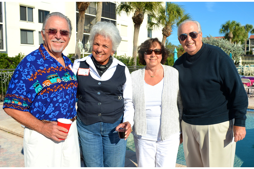 Roger and Angie Garbarino with Flo and Don Richer
