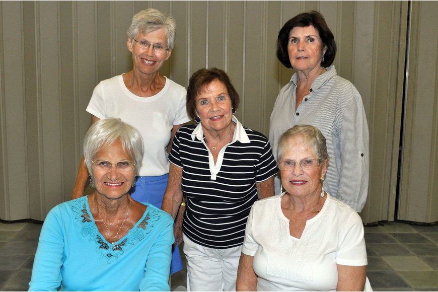 Mary Henry, Clara McGonigle, Dee Tornillo, Pat McGouran and Dionne Reinert
