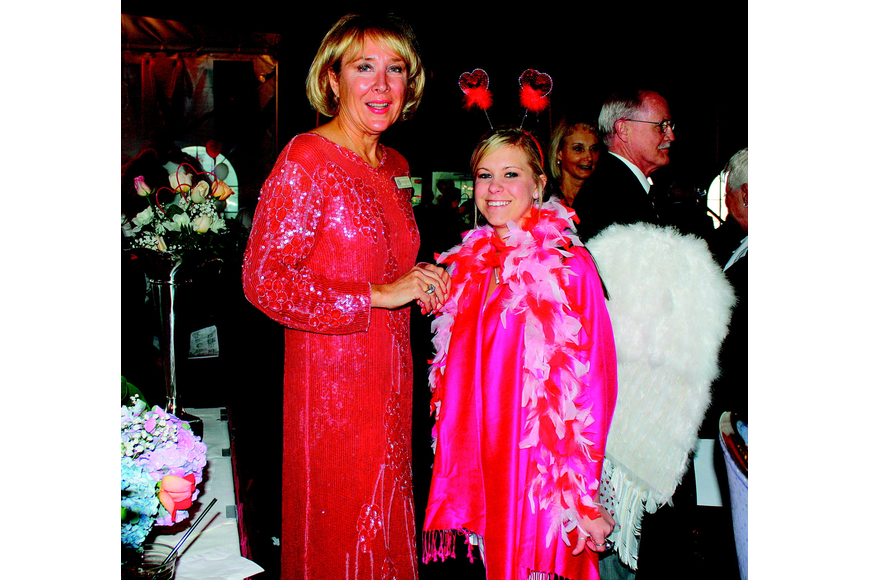 Melissa Morrill and Haylee Handel attended Sarasota Yacht Club's Valentine's Day celebration in February.
