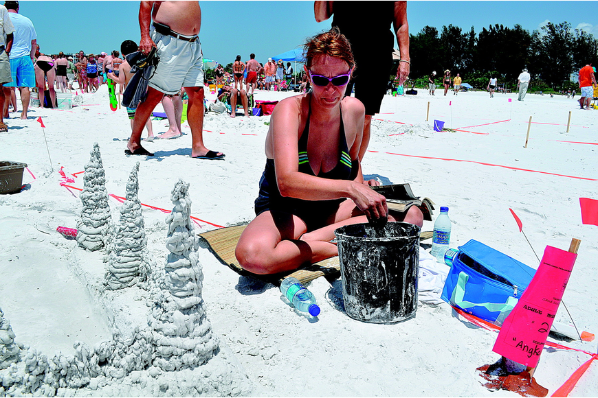 Robin Schmidt sculpted a rendition of the Angkor Wat temple, in Cambodia, for the Sand Sculpture Contest in May on Siesta Key.
