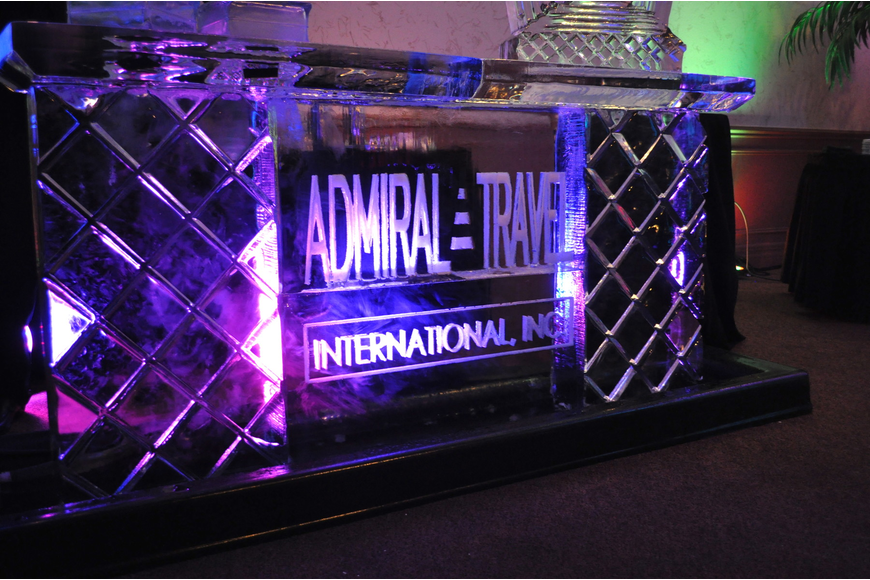 The event featured an awesome ice bar.